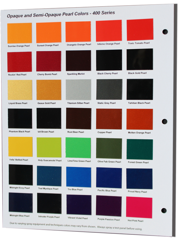 400 Series Color Chart Product Shot
